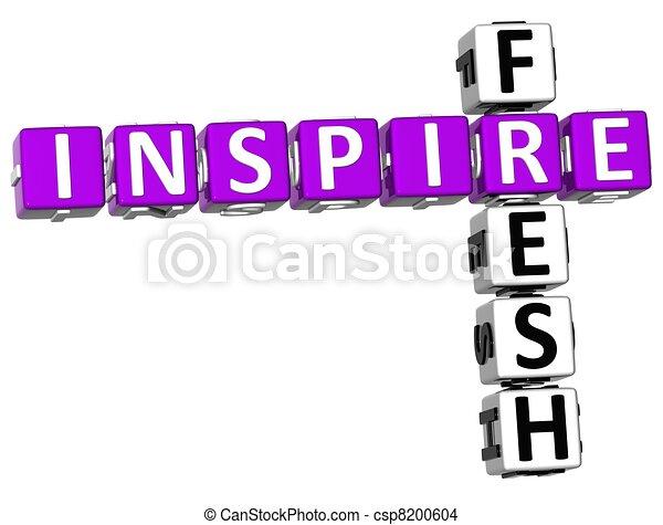 3D Fresh Inspire Crossword - csp8200604