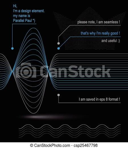 3d futuristic flowing lines - csp25467798