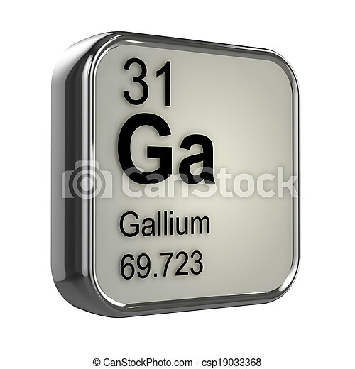 3d Gallium element - csp19033368