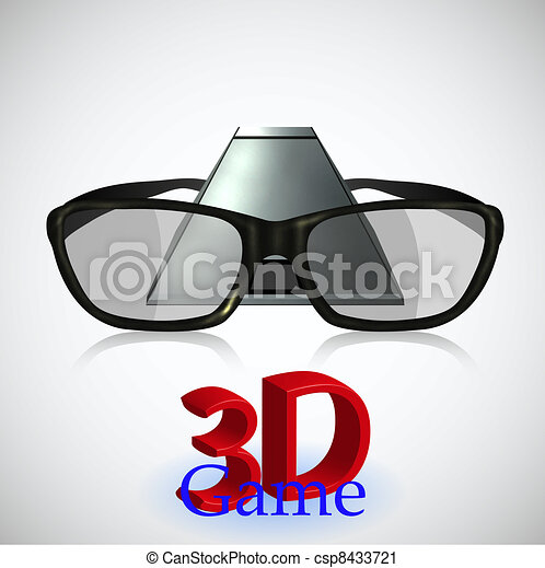 3D gaming. New technology. Vector illustration - csp8433721
