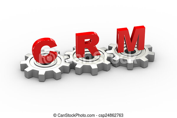 3d Gears Crm Concept 3d Illustration Of Gears And Crm Stock