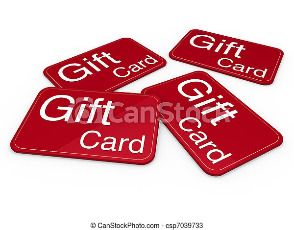 3d gift card red - csp7039733