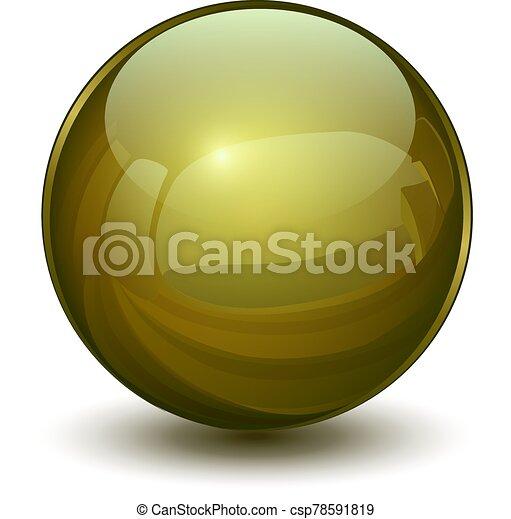 3d, glas, kugelförmig - csp78591819
