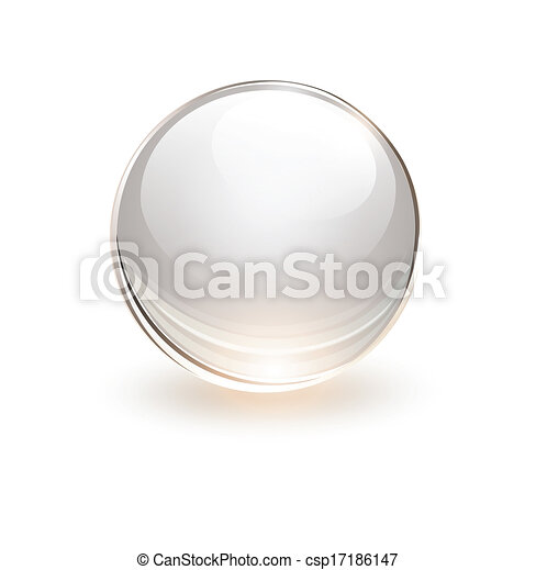 3D glass sphere - csp17186147