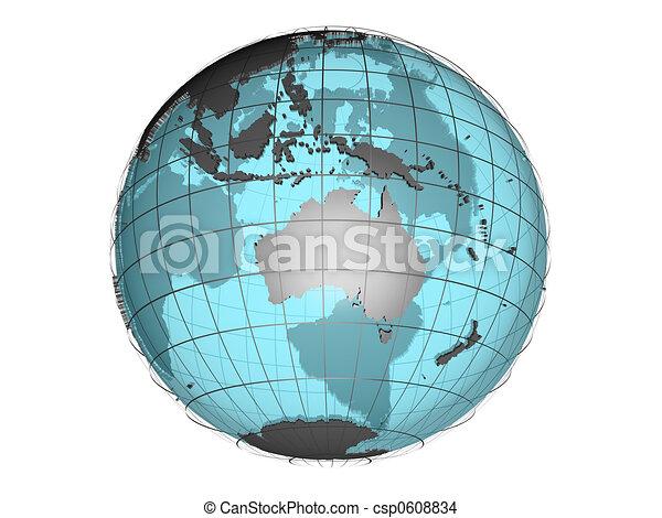 3D globe Australia - csp0608834