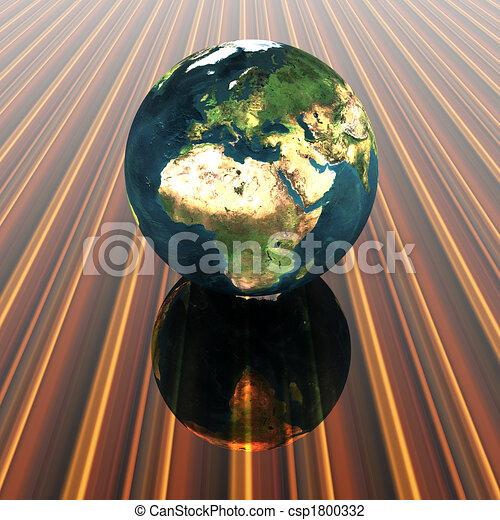 3D globe - csp1800332