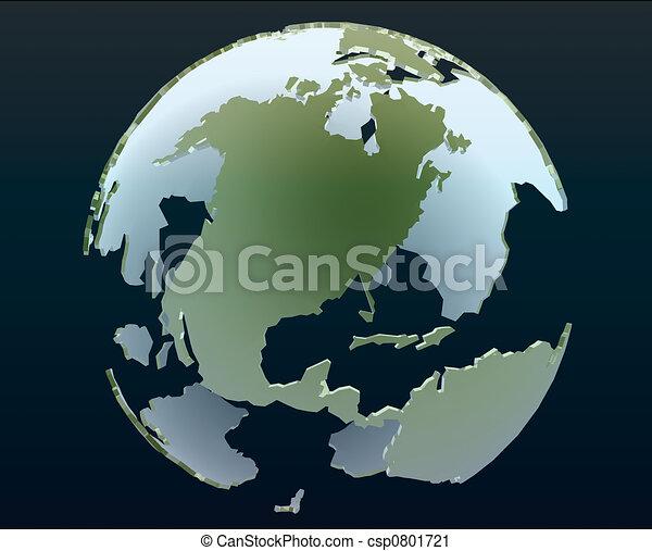 3d globe - csp0801721