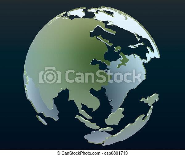 3d globe - csp0801713