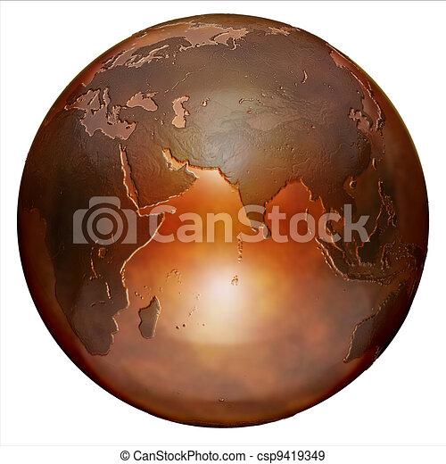 3d globe - csp9419349