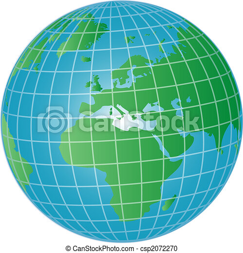 3d globe europe and africa - csp2072270