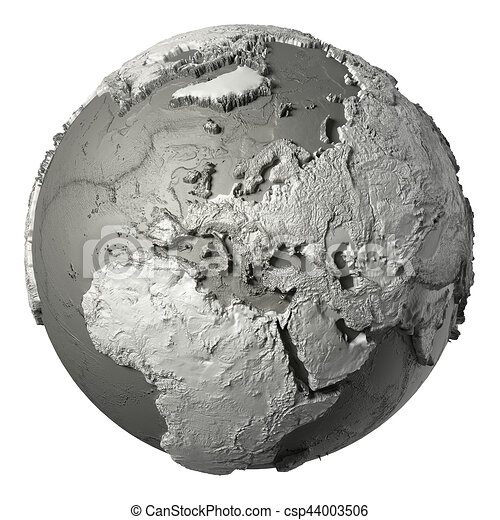 3D Globe Europe - csp44003506