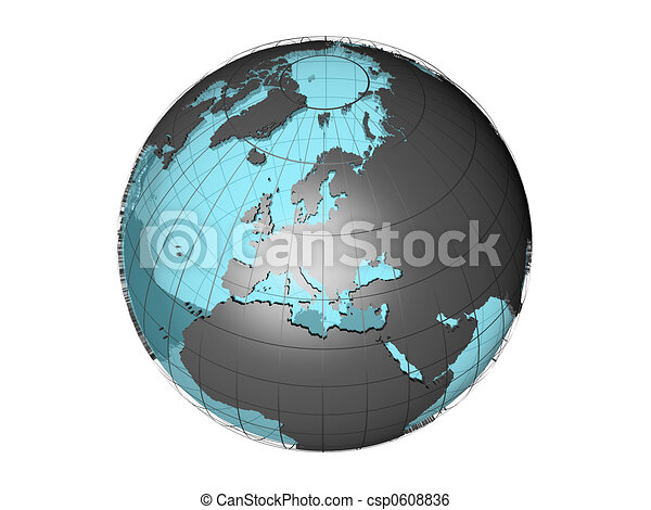 3d globe Europe - csp0608836