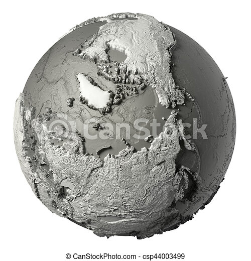 3D Globe North Pole - csp44003499