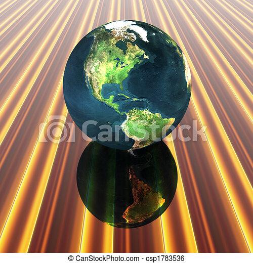 3D globe - csp1783536