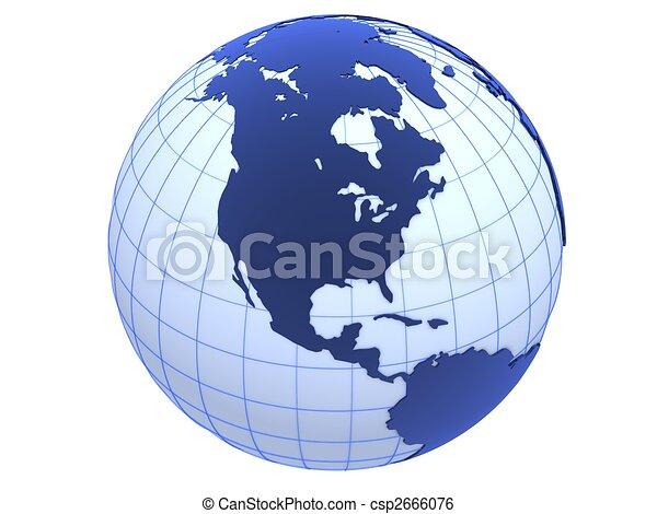 3d globe - csp2666076