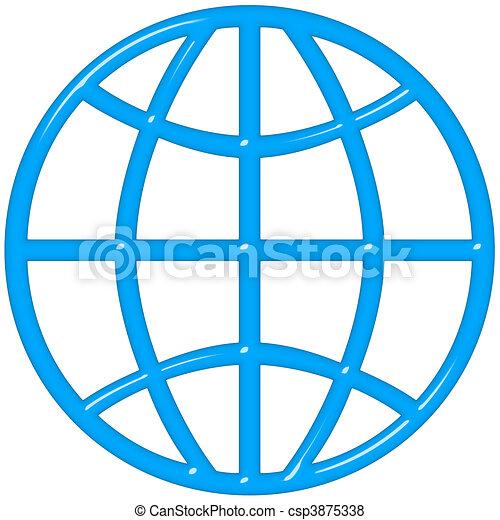 3D Globe - csp3875338