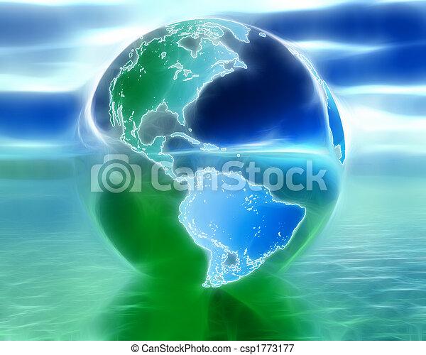 3D globe - csp1773177