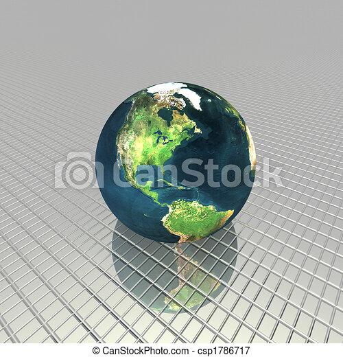 3D globe - csp1786717