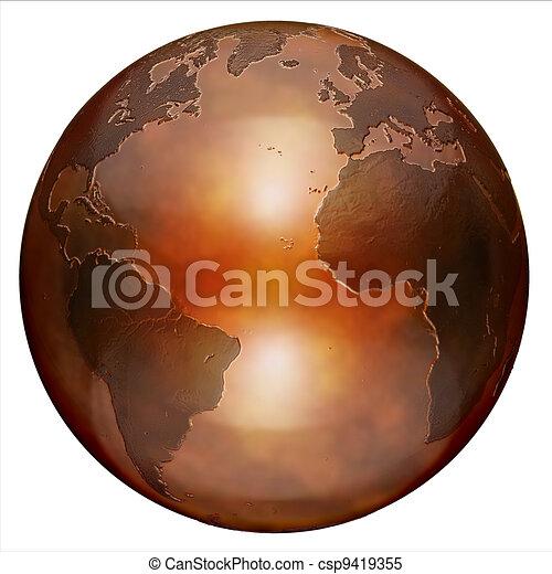 3d globe - csp9419355