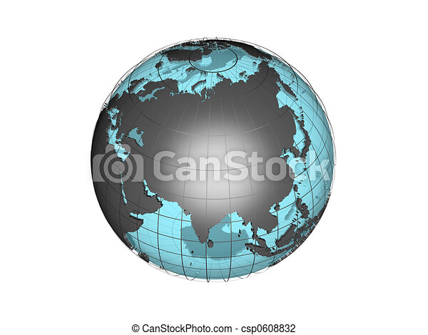 3d globe with asia 3d model of globe map showing the asian 3d globe with asia csp0608832 gumiabroncs Image collections