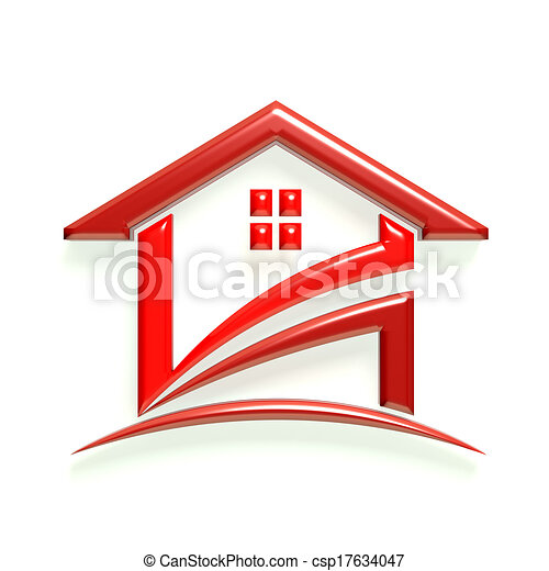 3d glossy logo red house drawing - Search Clip Art ...
