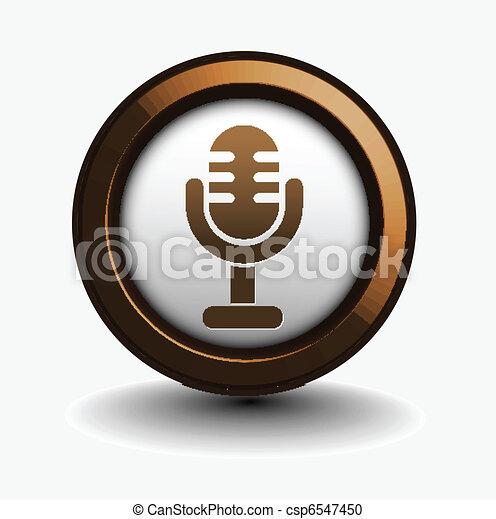 3d glossy mic icon - csp6547450