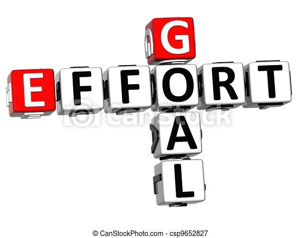 3D Goal Effort Crossword - csp9652827