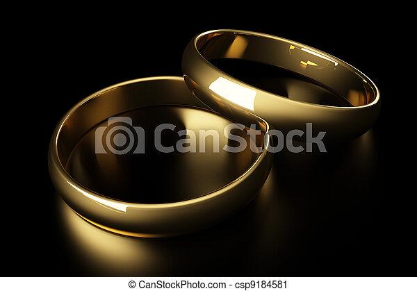 3d gold wedding ring - csp9184581