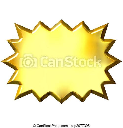 3D Golden Burst - csp2077395