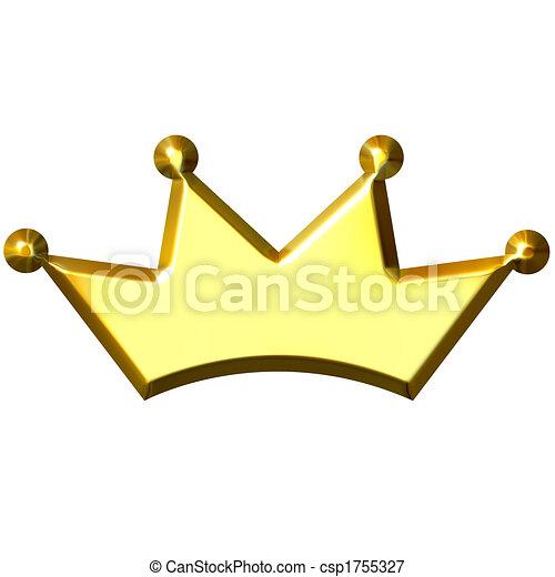 3D Golden Crown - csp1755327