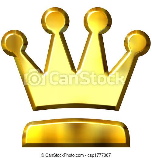 3D Golden Crown - csp1777007