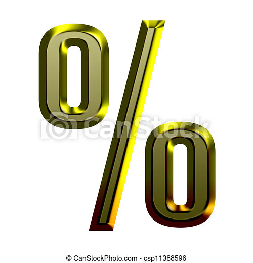 3d Golden font illustration - csp11388596