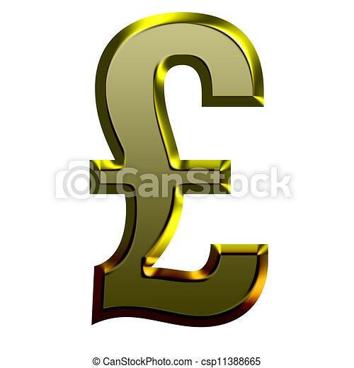 3d Golden font illustration - csp11388665