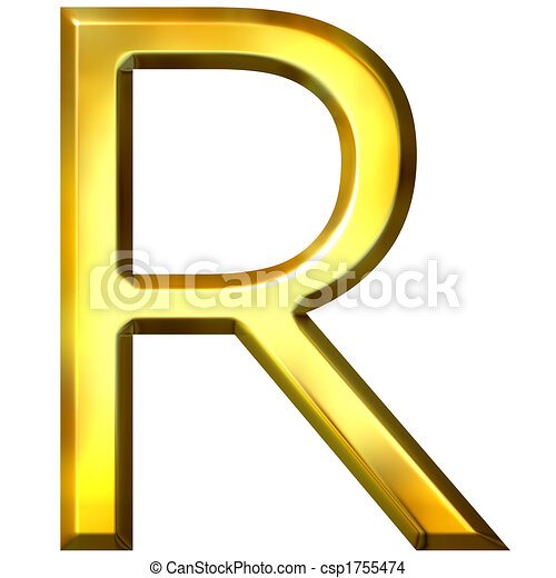 3d golden letter r 3d golden letter r isolated in white 3d golden letter r csp1755474 thecheapjerseys Image collections
