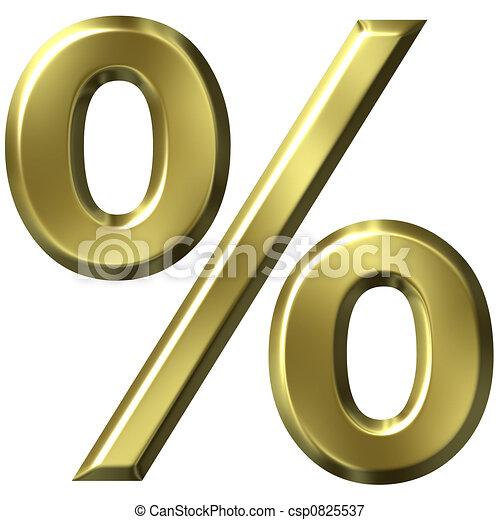 3D Golden Percentage  - csp0825537