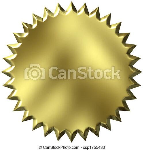 3D Golden Seal - csp1755433