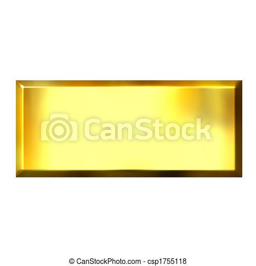 3D Golden Square Button - csp1755118