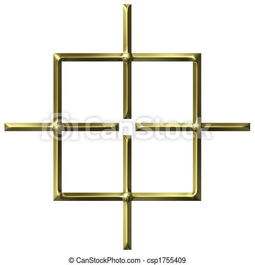 3D Golden Square Target - csp1755409