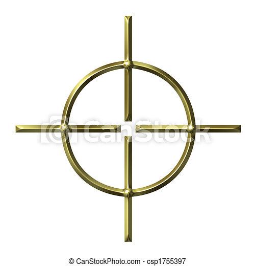 3D Golden Target - csp1755397