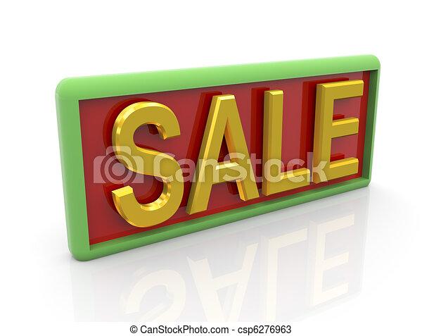 3d golden text sale - csp6276963