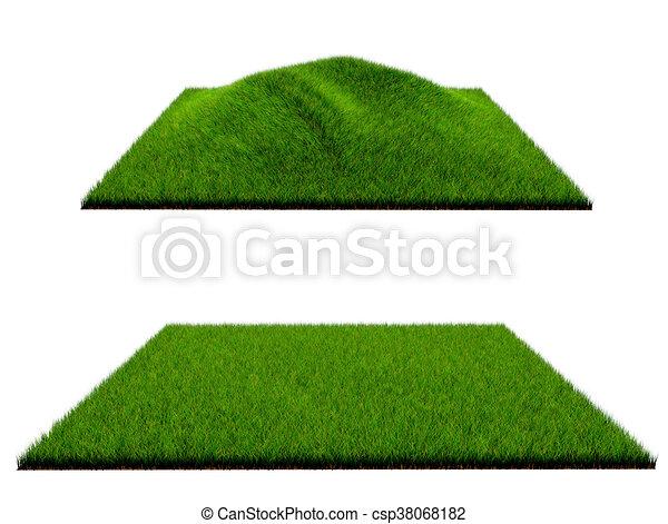 3d grass on white background - csp38068182