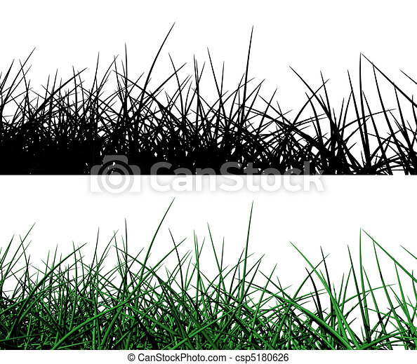 3d grass with alpha mask  - csp5180626