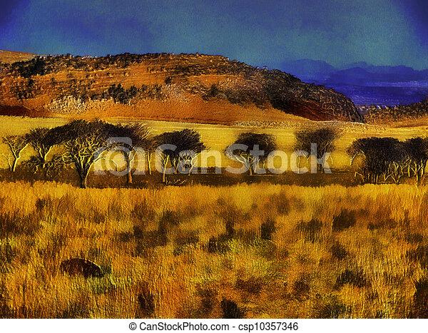 Unique 3d grassland mountains and trees painting on canvas drawing 3d grassland mountains and trees csp10357346 voltagebd Choice Image