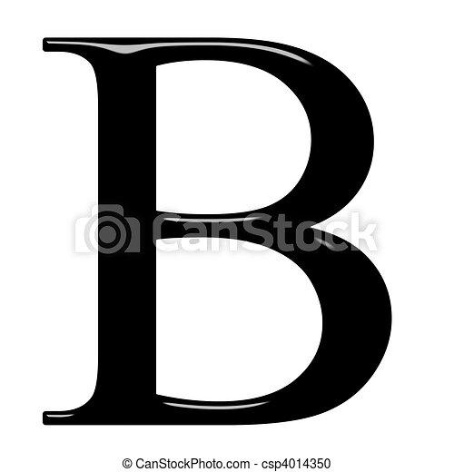 3D Greek Letter Beta - csp4014350