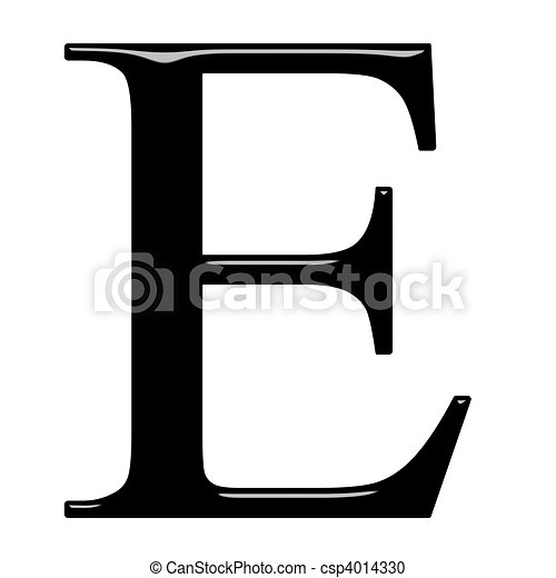3D Greek Letter Epsilon - csp4014330