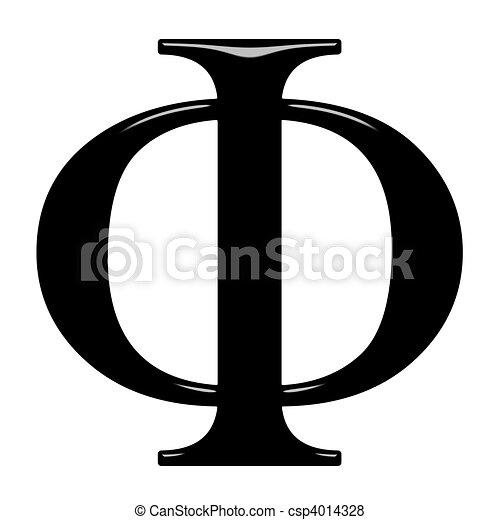 3D Greek Letter Phi - csp4014328