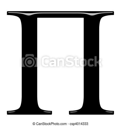 3D Greek Letter Pi - csp4014333