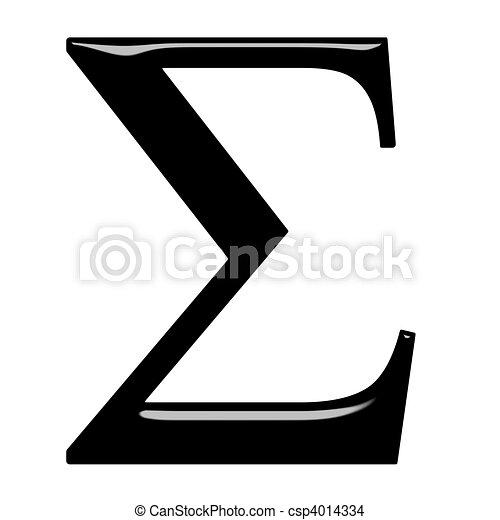 3D Greek Letter Sigma - csp4014334