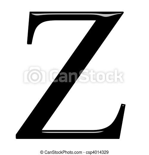 3D Greek Letter Zeta - csp4014329
