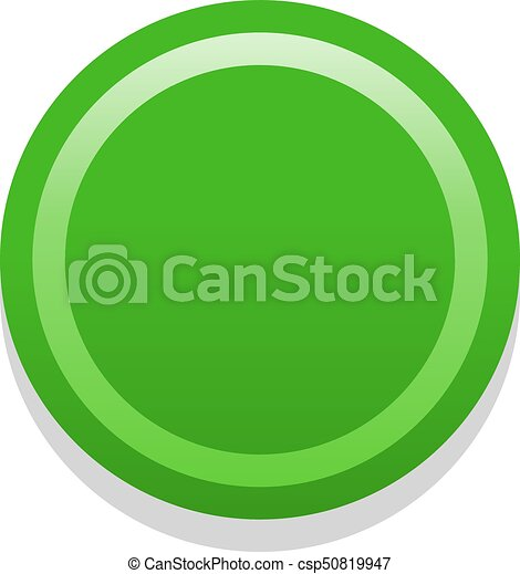 3D green blank icon in flat style - csp50819947